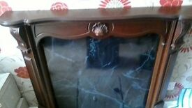 Mahoganay fire surround & backing sheet