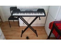 Yamaha Electronic Keyboard PSR 175 Portatone PLUS stand and charger GOOD CONDITION