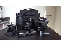 Nikon D7000+3 lenses+Extra Battery+Bag