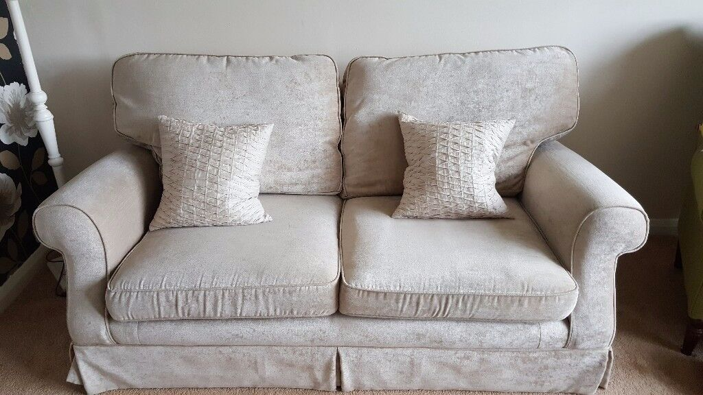 Laura Ashley 2 seater Padstow sofa was £1300. Excellent condition. Fibre filled back cushions.