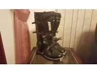 GP PRO MX Boots Black Size 8