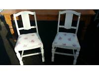 Shabby chic chairs ( 4 ) ( DELIVERY AVAILABLE )