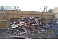 Free wood: timber offcuts, fence panels, pallets, logs, ideal for log burners