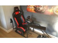 GT Omega Racing Simulator WITH Logitech G27 Wheel, Shifter and Pedals!