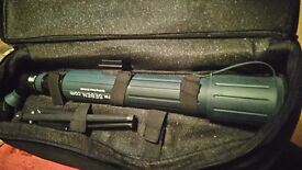 seben spotting scope 20- 60 times 60 ,as new with small tripod in carrying case.