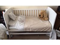 Darcy white cot bed with mattress