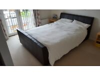 Kingsize Faux Brown Leather Bed frame (from Gillies)
