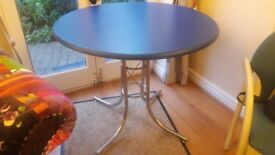 Beautiful blue dining table