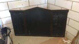 Large pub dart and chalk board