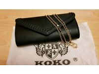 KOKO Women's Black Clutch Bag