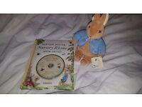 Beatrix potter nursery rhyme book and teddy