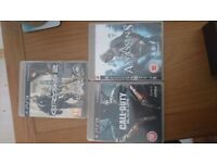 PS3 Games, Crysis 2, Call of Duty black ops, Assanin's Creed