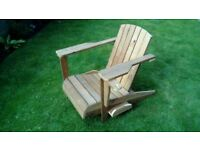 Adirondack - Muskoka garden chair. Bespoke, handmade with unique features