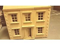 Detailed dolls girls baby wooden house free furniture