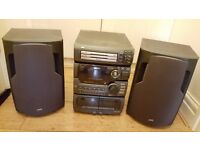 Bargain***JVC Personal Stereo Receiver (2 Front Tape Decks, CD Player not working, with Radio)