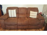 3, 2 seater and rocking chair recliners