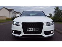 2010 Audi A4 2.0 TDI Special Edition S Line + Ibis White+ Extras+Full History+DVD+ Sat Nav+DAB