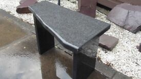 basalt stone mini bench seat hand made in the highlands