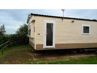 cheap static caravan on a pitch with seaviews on Hoburne Devon bay 11 month season pets welcome