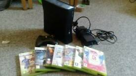 Xbox 360 plus controller and 7 games