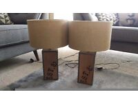 2 Rustic Next home table lamps