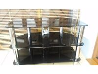 Black glass TV unit for sale