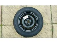 Brand new 2016 spare tyre of a Vauxhall corsa