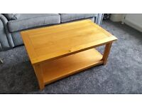 Solid wood coffee table - great condition