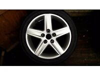 New Audi alloy wheel and tyre for sale