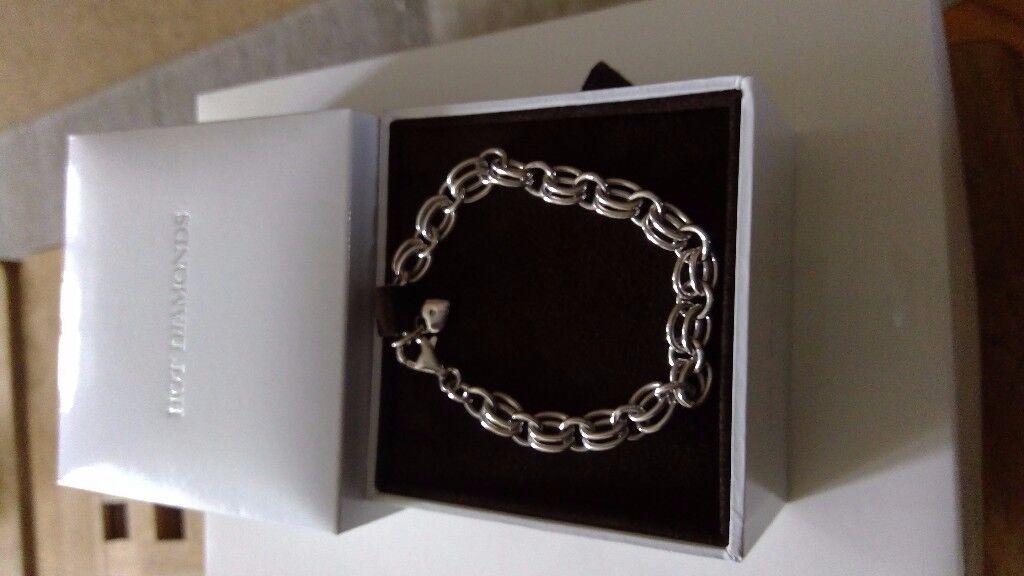 Hot Diamond Sterling Silver Charm Bracelet