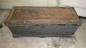 Antique military ammo chest