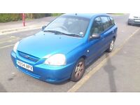 2004 (54 Plate) KIA RIO 1.3 LE petrol blue 5-door £450 ONO priced to sell.
