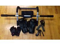 !_(£30) Reebok Boxing Gloves, like new + 2 jump jumpbands + adjustable back strap,etc_! .