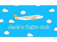 12 month membership to Jack's Flight Club
