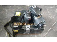 Nikon D3300 DSLR Camera Kit + AF-S DX Nikkor 18-55mm f/3.5-5.6G VR2 Lens + Tripod + Backpack *Mint*
