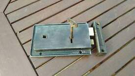 Cast iron door locks with key and keeps