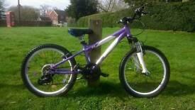 "Carrera Luna 20"" wheel lightweight aluminium girls child's purple mountain bike"