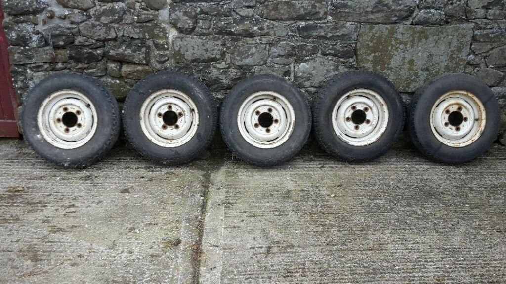 Five Landrover Defender 300TDi Wheels And Tyres 205R16 suit Ifor Williams  trailer 16 inch Tyres | in Ballinderry Upper, County Antrim | Gumtree