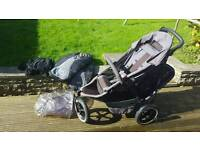 Phil and teds double buggy with extras