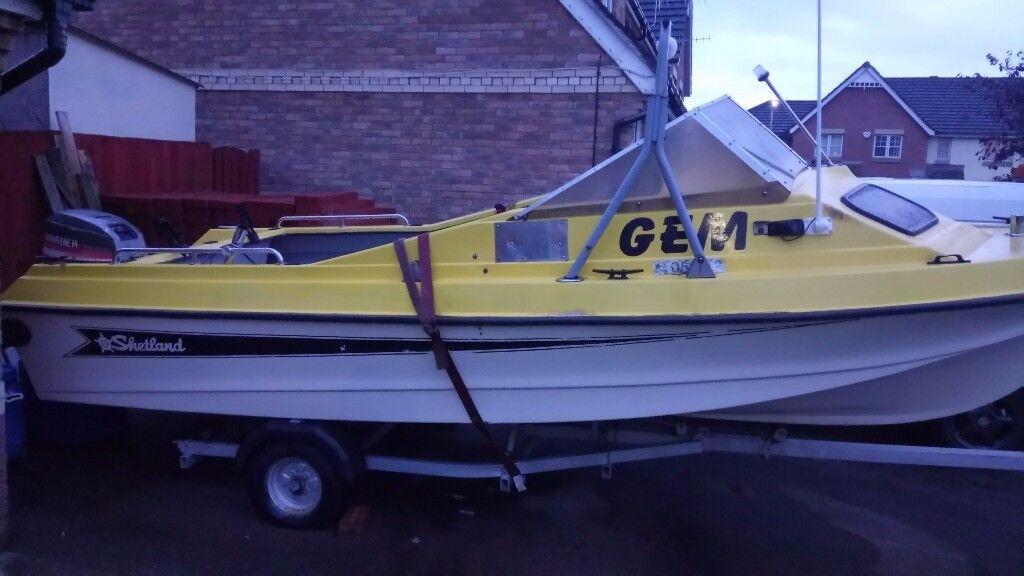 17.5ft Shetland 535 Sheltie Fishing Boat