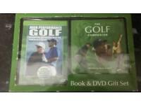 Tiger Woods golf set DVD and book