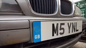 BMW M5 private number plate BMW e39 e60 F10