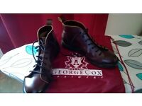 ONE STEP BEYOND!!!!!!! GEORGE COX MONKEY BOOTS IN OXBLOOD SIZE 9!!!!!!!!