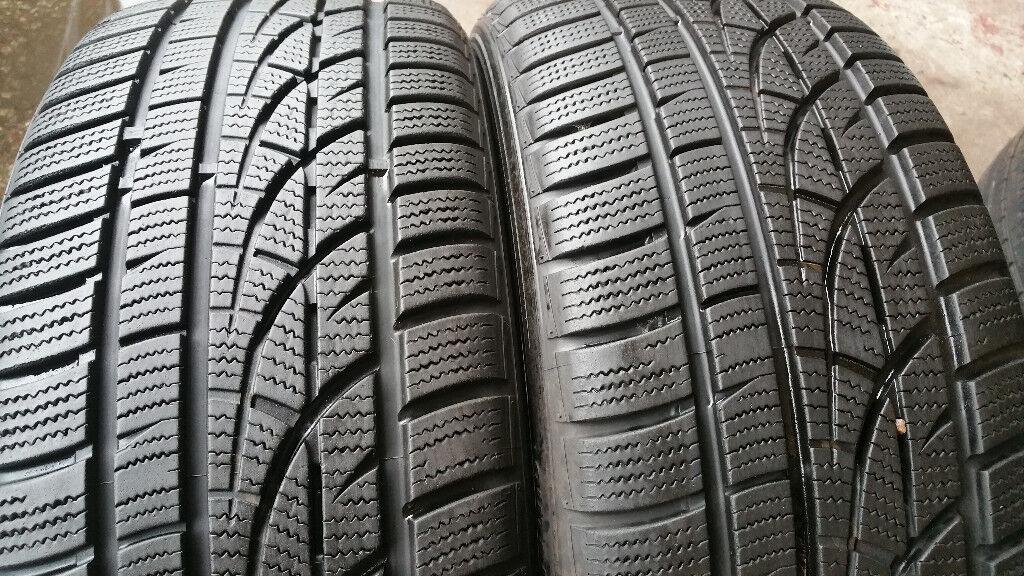 215 45 17 2 x tyres Hankook Winter i*cept Evo W310