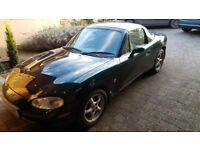 MX5 with hard top dark metallic green