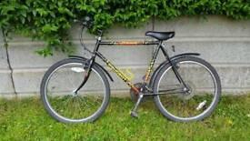 Black mountain bike