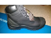 Black, Waterproof, metal free safety boots size UK12