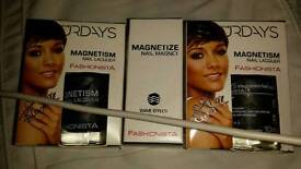 Magnetic nail polish and magnet by the saturdays