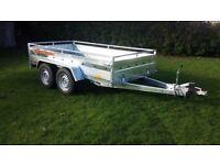 New car trailer twin axle with brakes 300 cm x 150 cm (10 x 5) 2700 kg £1600 + VAT