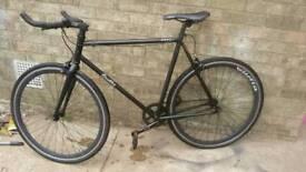 Quella Nero black single speed racing bike